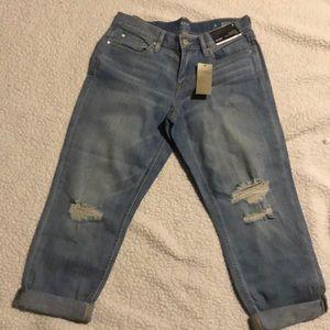 NWT a.n.a skinny boyfriend crop jeans
